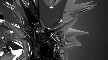 Dynamic abstract metal material art.Alloy high-tec Animation