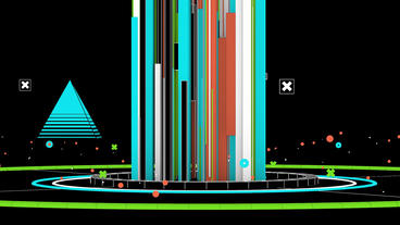 Beam emitted stripes in Virtual stylish space,Abst Animation