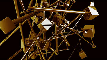 Gold brick bullion.Abstract Futuristic high techno Stock Video Footage