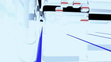 Modern high-tech sci-fi scenario,future space worl Stock Video Footage