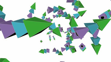 Abstract arrow collision flying art background,Cartoon... Stock Video Footage