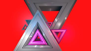 Triangle geometric Data processing,geometry in virtual... Stock Video Footage