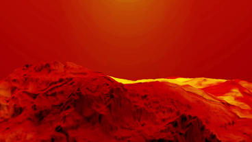 Red Liquid Ocean Sea Water Lava Magma,red Mountain Orogeny & Volcanic Activi stock footage