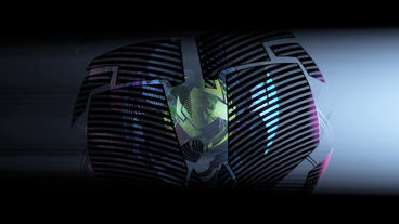 Sci-fi Ribbon Surround Metal Tech Digital Ball & F stock footage