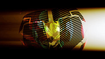 sci-fi ribbon surround metal tech digital ball &... Stock Video Footage