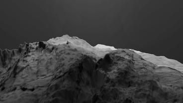 Gray liquid ocean sea water lava magma,mountain orogeny... Stock Video Footage