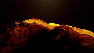Red liquid ocean sea water lava magma,mountain orogeny... Stock Video Footage