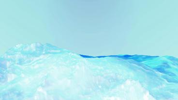 Blue liquid ocean sea water lava magma,mountain spray... Stock Video Footage
