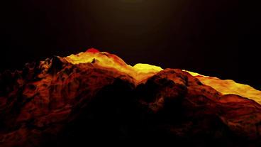 Liquid Ocean Sea Water Lava Magma,spray Waves & Volcanic Activity stock footage