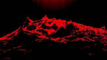 Red liquid ocean sea water lava magma,spray waves & volcanic activity Animation