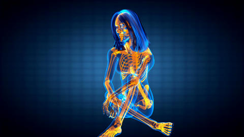 cute woman radiography Stock Video Footage