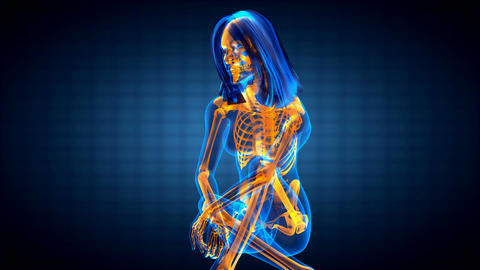 cute woman radiography Animation