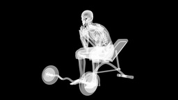 human radiography scan in gym room Stock Video Footage