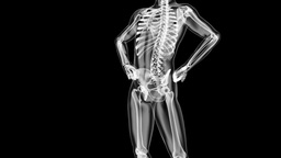 human radiography scan Stock Video Footage