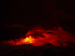 Etna Eruption at night. Sicily, Italy. Time Laps. Stock Video Footage