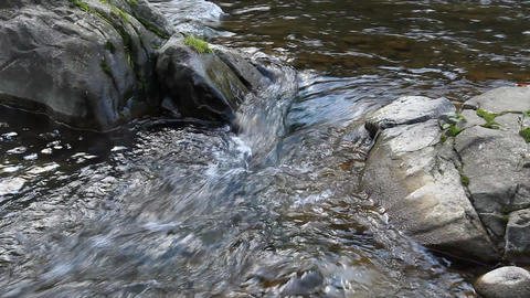 rocks below a waterfall Footage