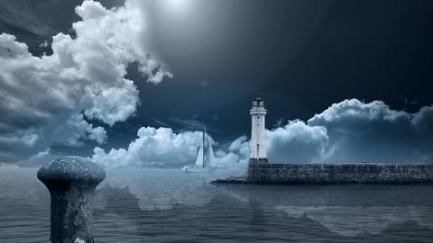 LIGHTHOUSE Stock Video Footage