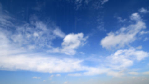 drops of rain and blue cloudy sky Stock Video Footage