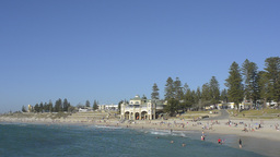 Cottesloe Beach in Perth Under Blue Skies Stock Video Footage
