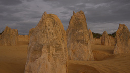 The Pinnacles in Western Australia Stock Video Footage