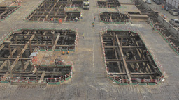Construction Work on a Building Site in Bangkok Stock Video Footage