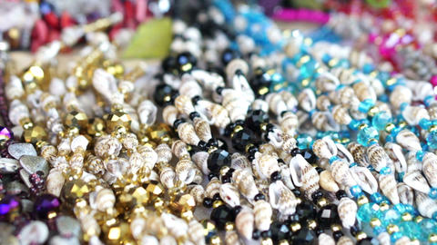 Colorful Jewelry Stock Video Footage