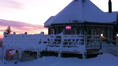 Winter bar Stock Video Footage
