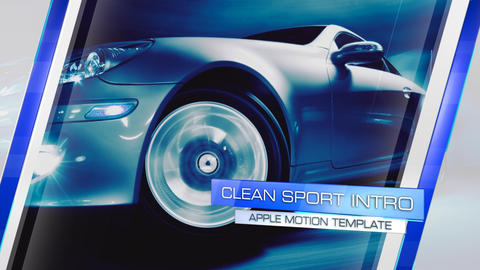 Clean Sport Intro - Apple Motion and Final Cut Pro X Template Apple Motion Template