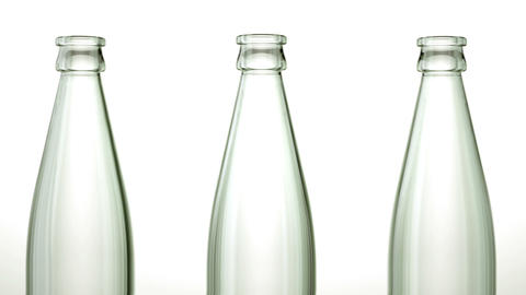 Loopable empty bottles production line with Alpha Stock Video Footage