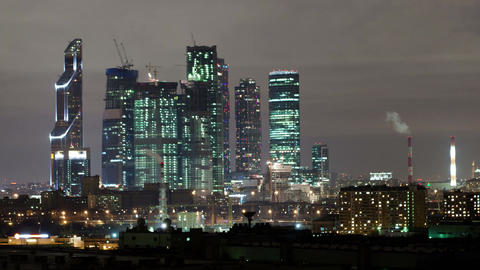 Moscow city time lapse Stock Video Footage