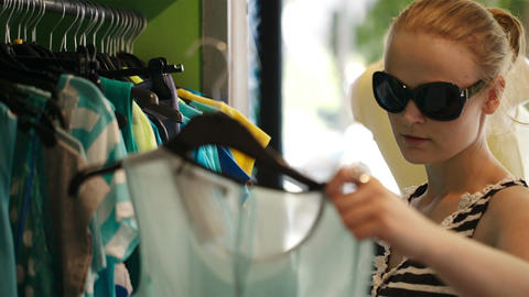 Young Woman Shopping stock footage