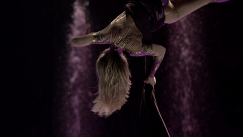 Aerial silk gymnast Footage