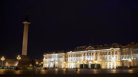 Time lapse of people walking on Palace Square Footage
