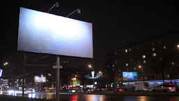 Time lapse of urban scene with an empty billboard, Footage