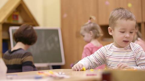 Little boy in the nursery Footage