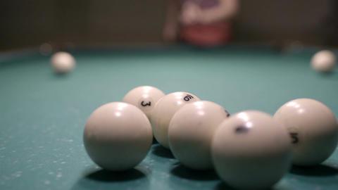 Man playing billiards Footage