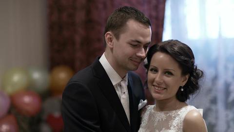 Bridal pair at a photo shoot Stock Video Footage