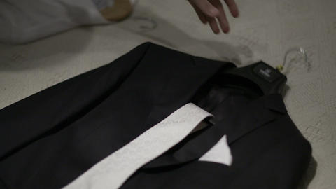 Wedding suit Stock Video Footage
