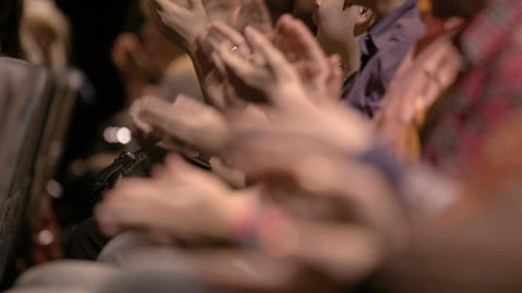 Clapping hands of people attending an event Stock Video Footage