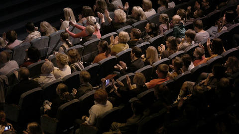 Audience applauding, during a spectacular event Stock Video Footage