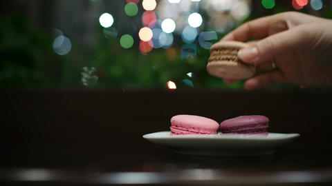 Tasty Macaroons stock footage