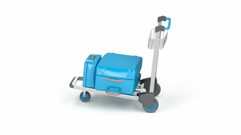 Airport trolley Animation