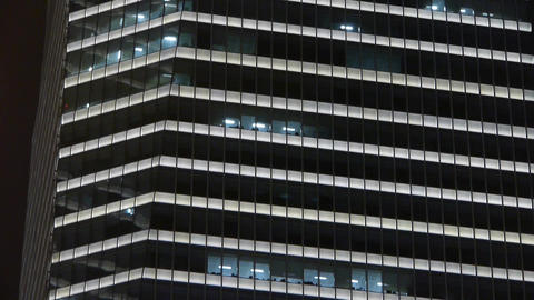 closeup skyscraper at night,urban morden business... Stock Video Footage