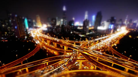 freeway busy city rush hour heavy traffic jam highway at... Stock Video Footage