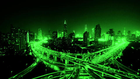 time lapse of freeway busy city rush hour heavy traffic... Stock Video Footage