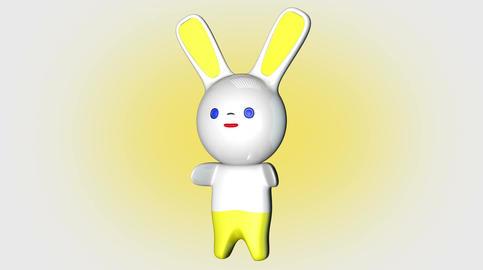 4 K Kawaii Bunny Loop 1 with Matte Stock Video Footage