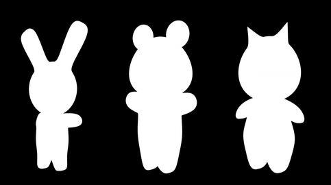 4 K Kawaii Figures with Matte Stock Video Footage