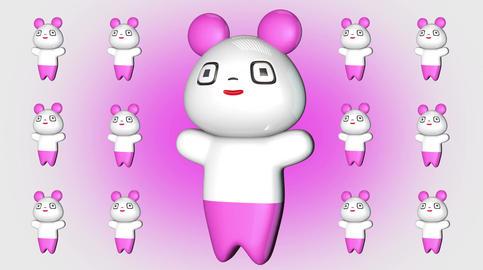 4 K Kawaii Panda Loop 2 Stock Video Footage