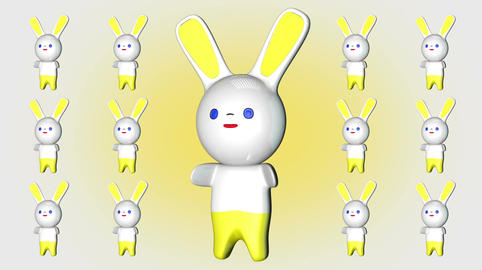 Kawaii Bunny Loop 2 Stock Video Footage