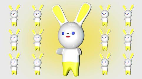 Kawaii Bunny Loop 2 Stock Video Footage